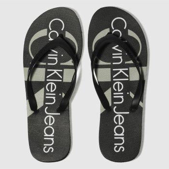 Calvin Klein Black Jeans Paulina Jelly Womens Sandals