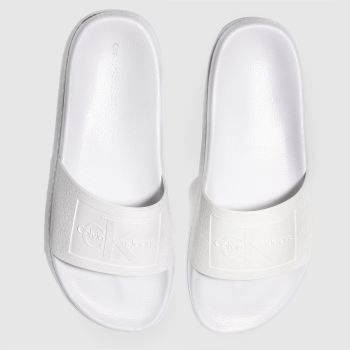Calvin Klein White Jeans Christie Jelly Womens Sandals