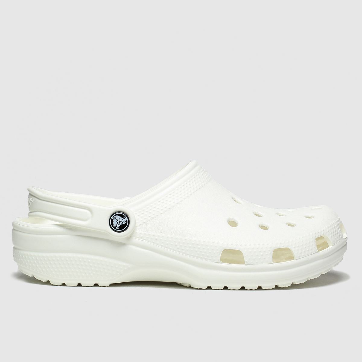 Crocs White Classic Clog Sandals