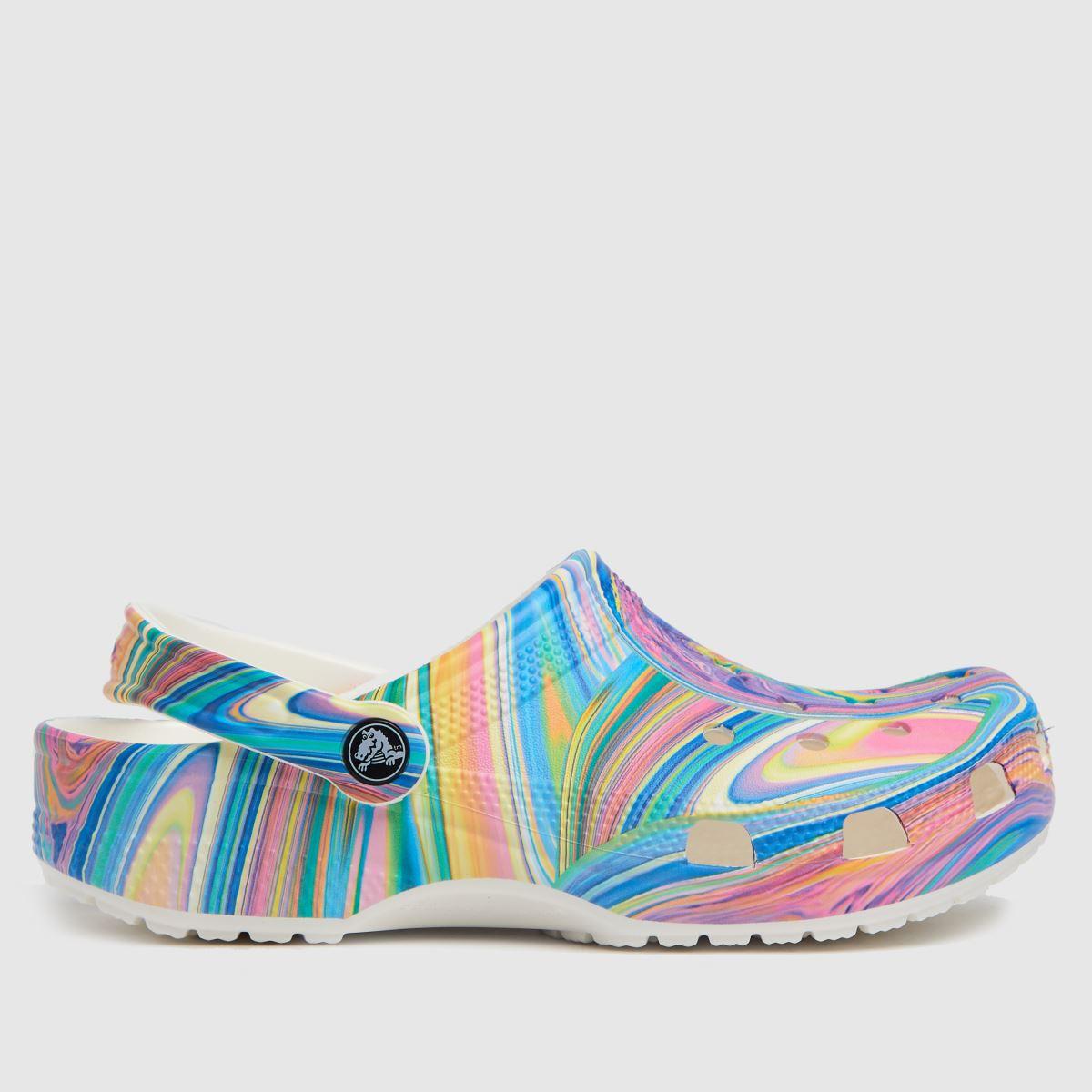 Crocs White & Pink Classic Clog Sandals