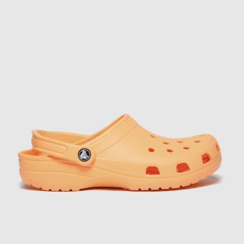 crocs Orange Classic Clog Womens Sandals