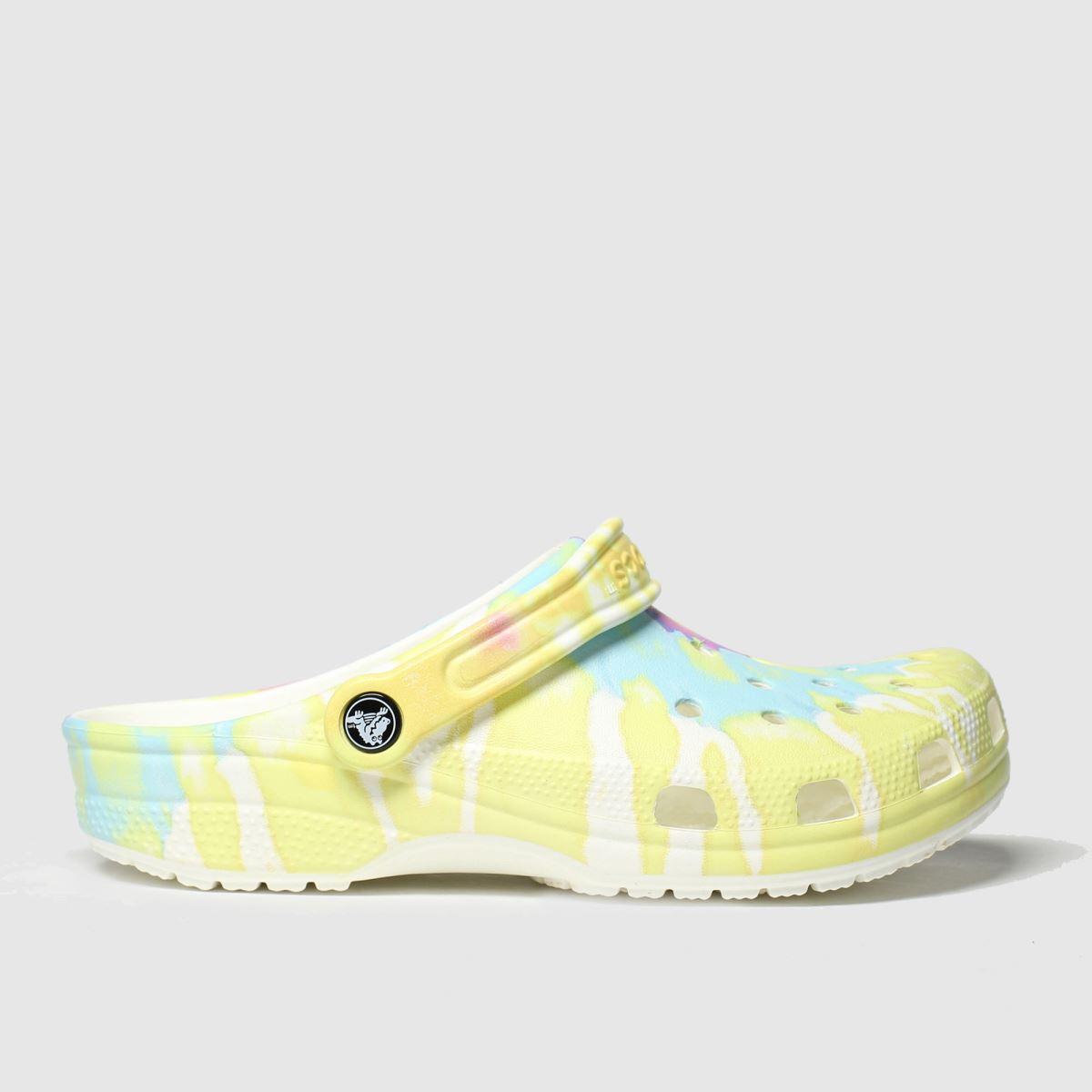 Crocs Crocs White & Yellow Classic Clog Sandals