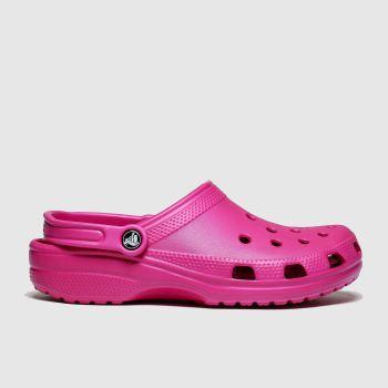 Crocs Pink Classic Clog Womens Sandals