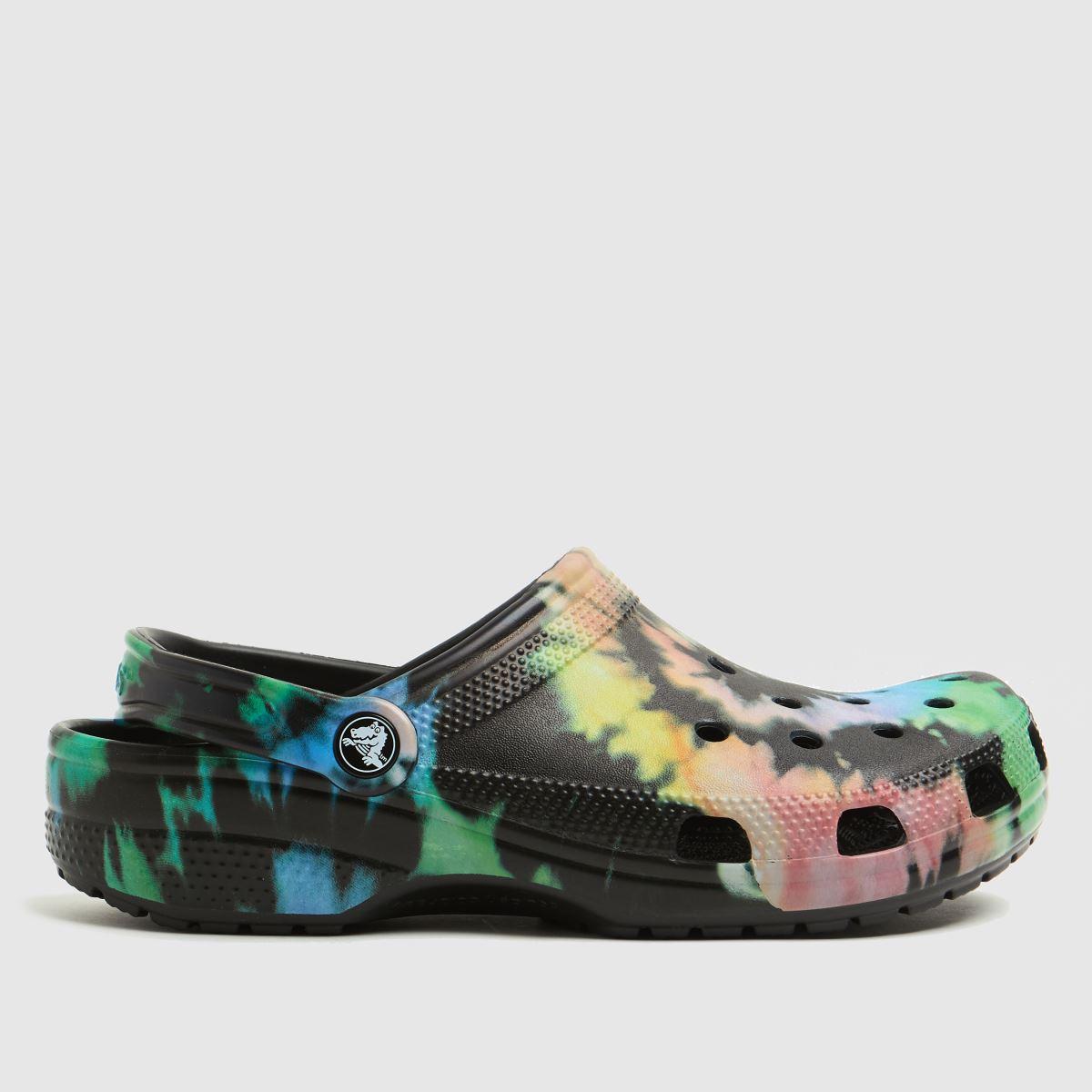 Crocs Black And Blue Classic Clog Sandals