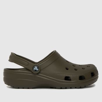 crocs Brown Classic Clog Womens Sandals