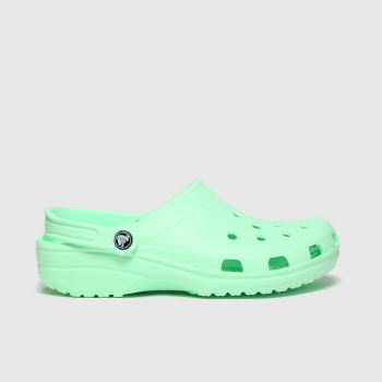 crocs Light Green Classic Clog Womens Sandals
