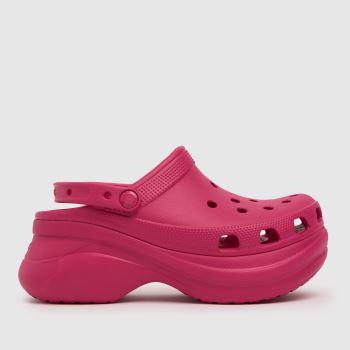 crocs Pink Bae Platform Classic Womens Sandals