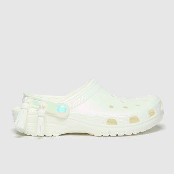 crocs Silver Festival Classic Clog Womens Sandals