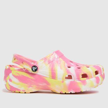 crocs Pink Classic Platform Womens Sandals