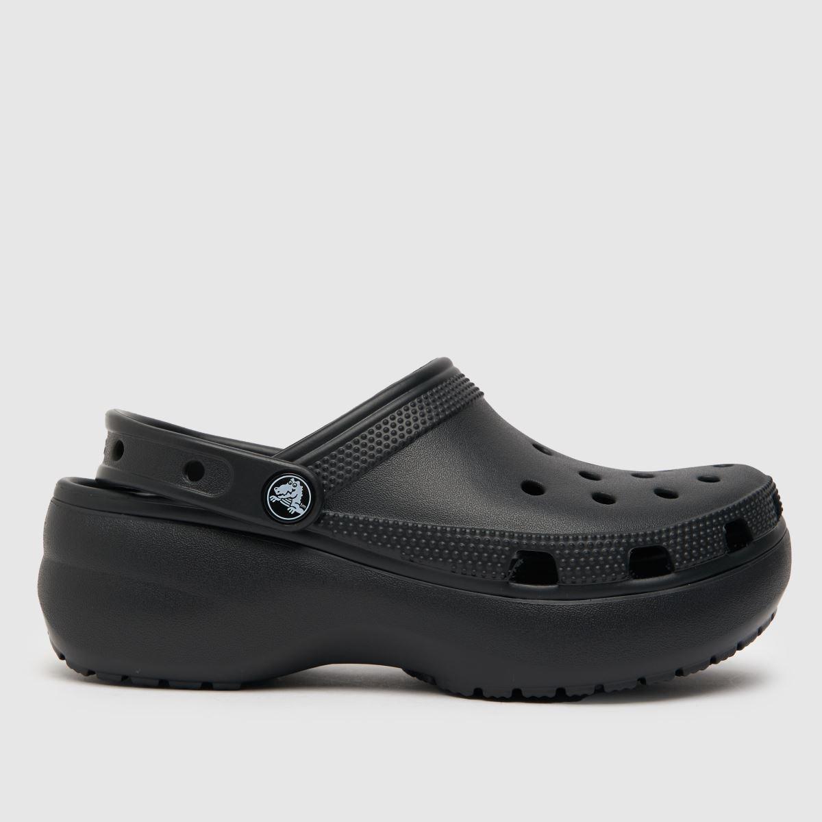 Crocs Black Classic Platform Sandals