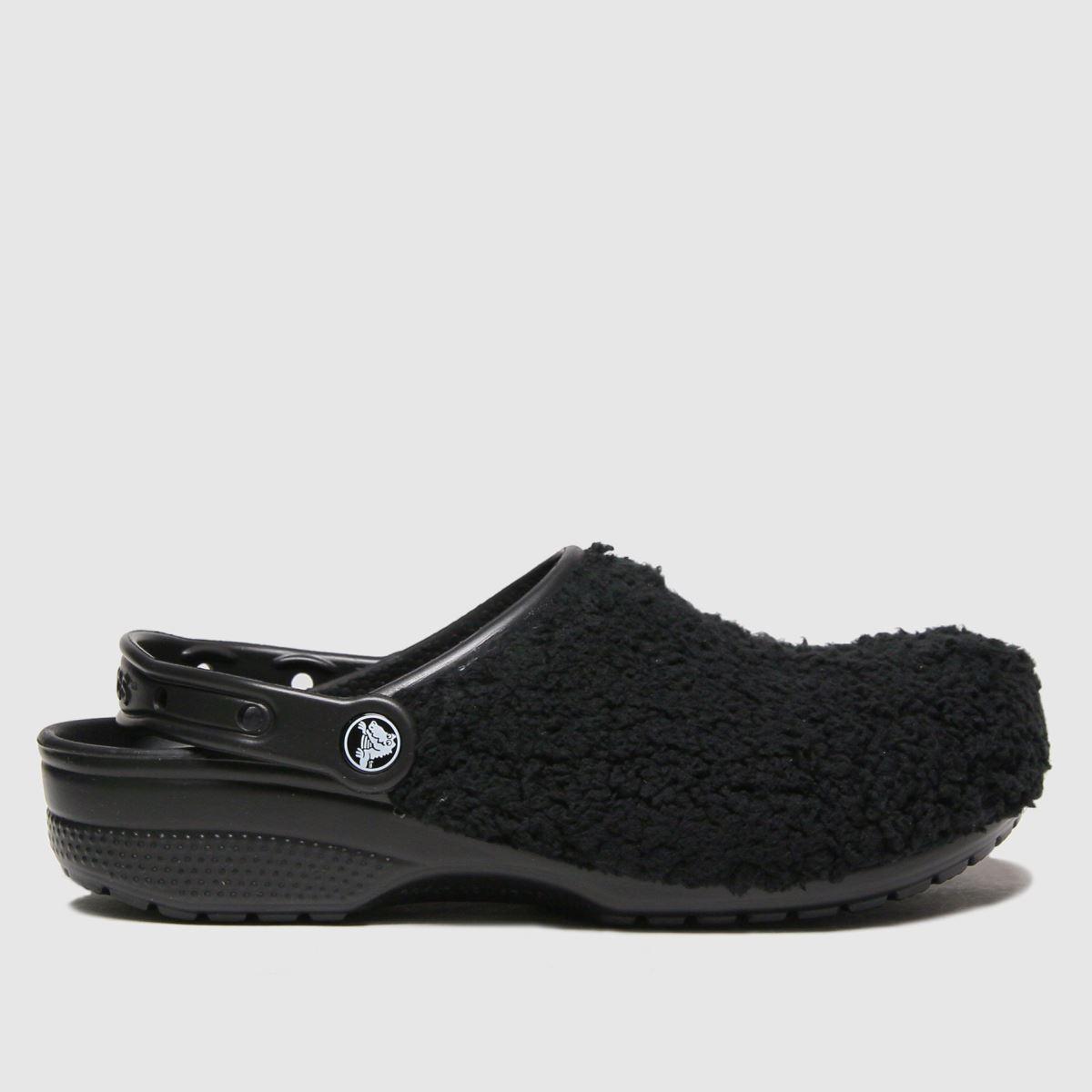 Crocs Crocs Black Classic Fuz Mania Sandals