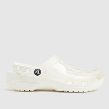 crocs White Classic Translucent Clog Womens Sandals