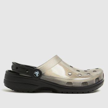 crocs Black Classic Translucent Clog Womens Sandals