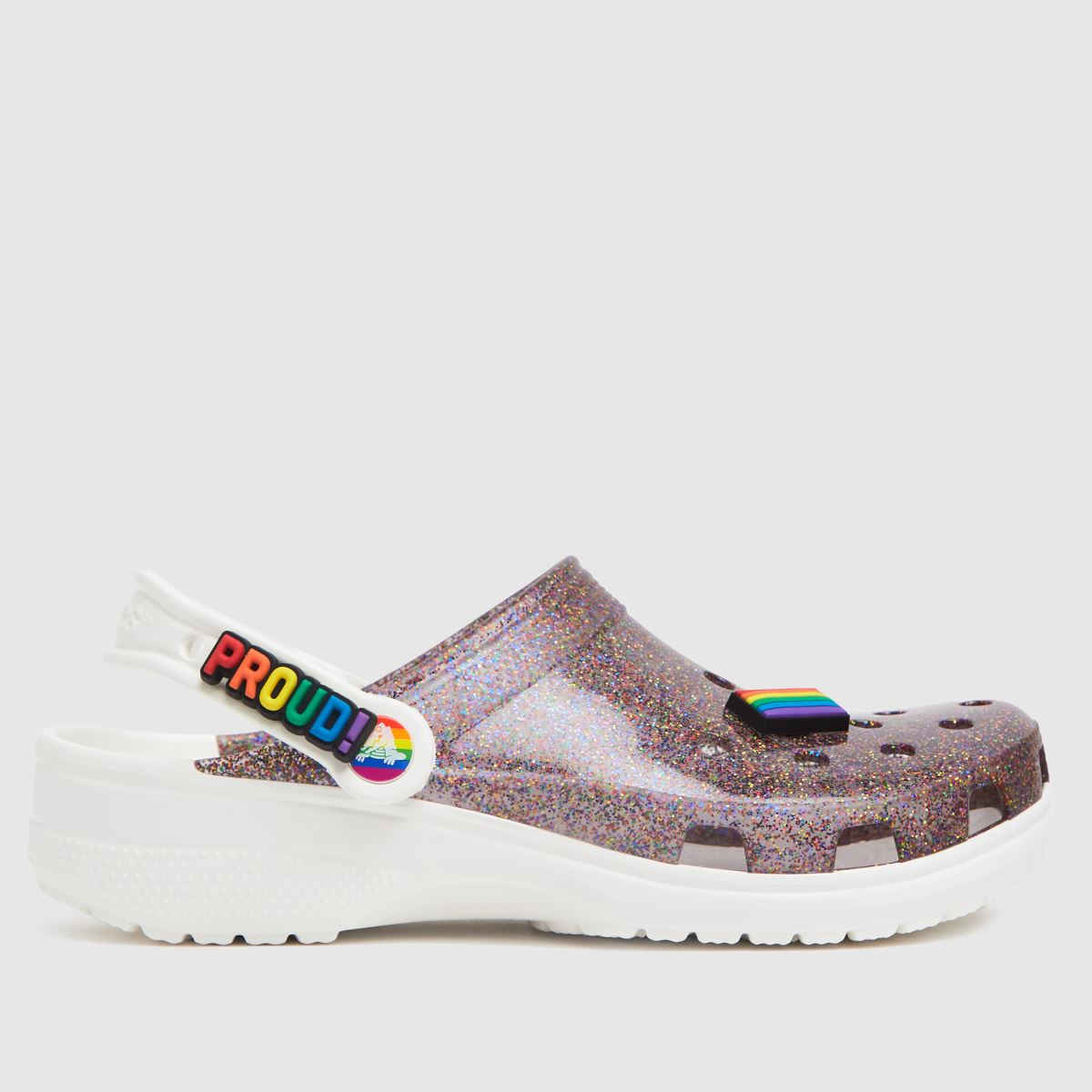 Crocs Multi Classic Glitter Pride Sandals