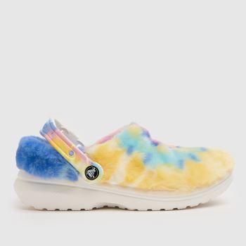 crocs Multi Classic Lined Cozy Fuzz Womens Sandals