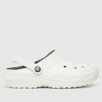 crocs White Warm Lined Clogs Womens Sandals