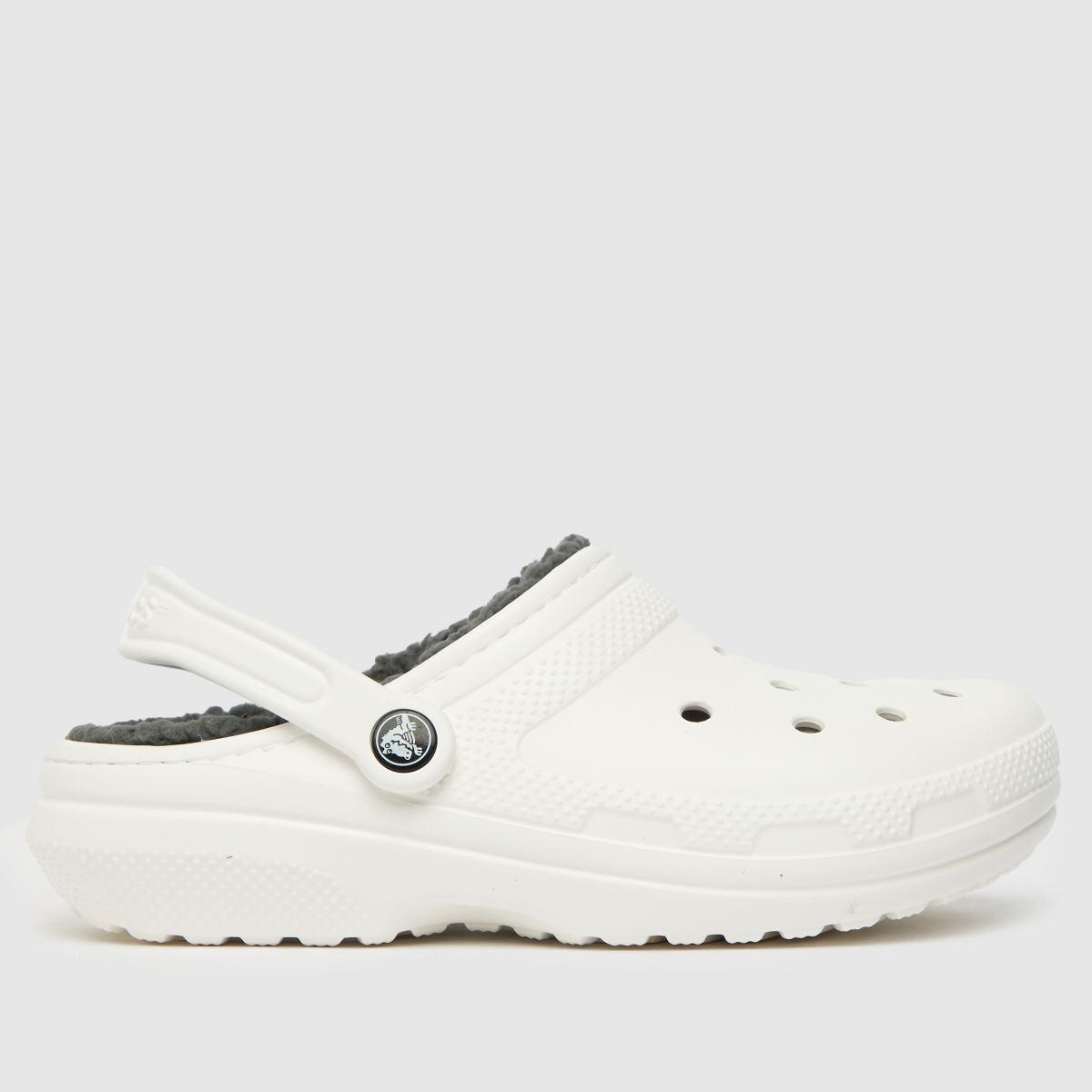 Crocs White Warm Lined Clogs Sandals
