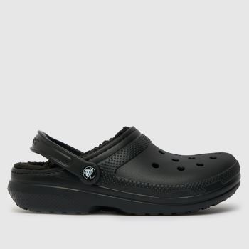 crocs Black Warm Lined Clogs Womens Sandals