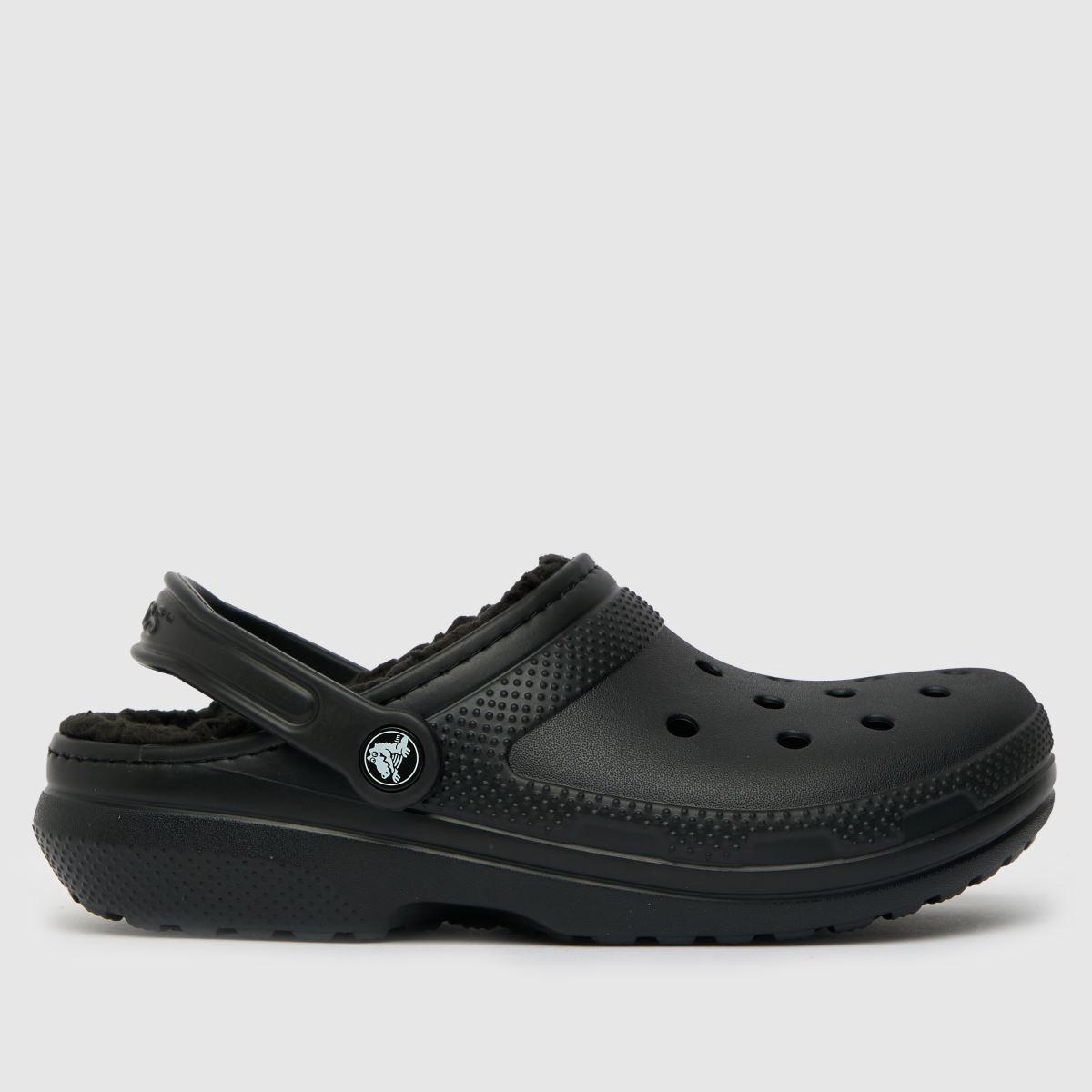 Crocs Black Warm Lined Clogs Sandals