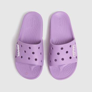 crocs Purple Classic Slide Womens Sandals