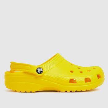 crocs Yellow Classic Clog Womens Sandals