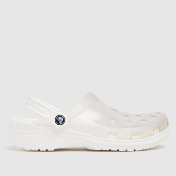 crocs White Translucent Clog Womens Sandals