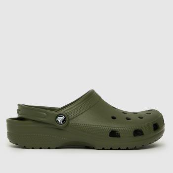 crocs Dark Green Classic Clog Womens Sandals