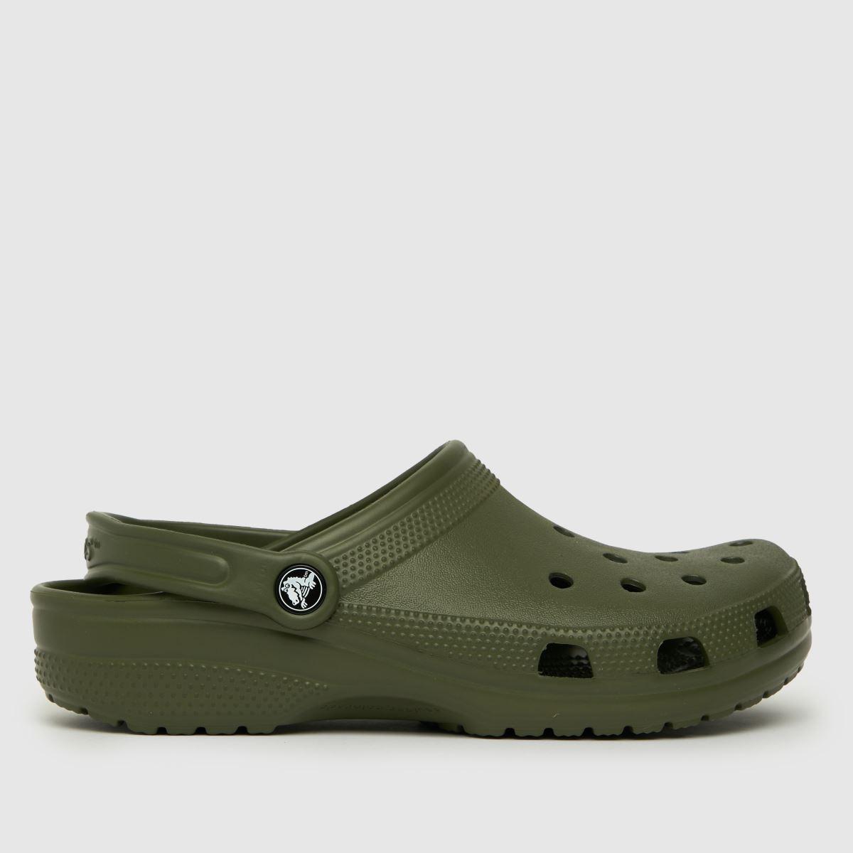 Crocs Dark Green Classic Clog Sandals