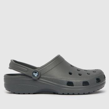 crocs Grey Classic Clog Womens Sandals