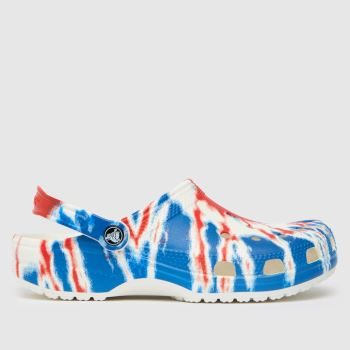 crocs Multi Classic Tie Dye Clog Womens Sandals