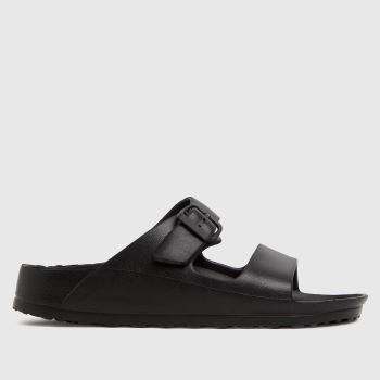schuh Black Tina Eva Footbed Womens Sandals