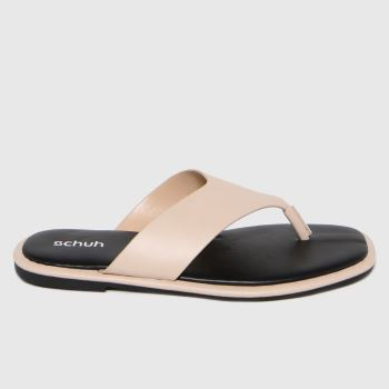 schuh Natural Tracy Toe Post Womens Sandals