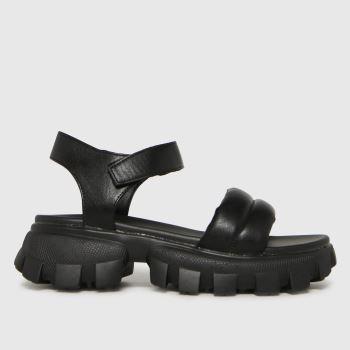 schuh Black Vania Chunky Womens Sandals
