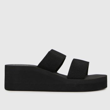 schuh Black Venus Eva Wedge Womens Sandals