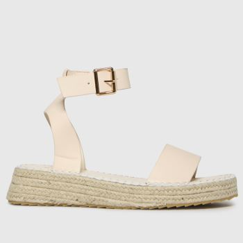 schuh White Victoria Ecru Espadrille Womens Sandals