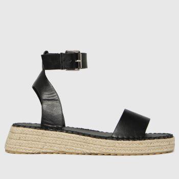 schuh Black Victoria Espadrille Buckle Womens Sandals