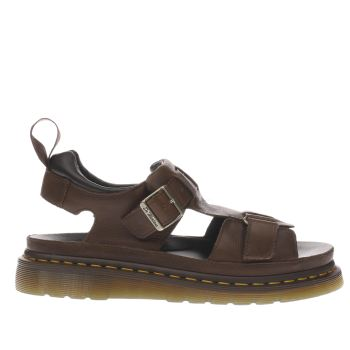 DR MARTENS TAN SHORE HAYDEN GRUNGE SANDALS