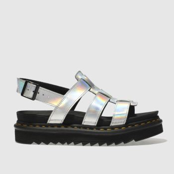Dr Martens Silver Zebrilus Yelena Iced Metallic Womens Sandals