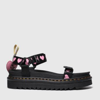 Dr Martens Black & pink Lazy Oaf Vegan Lo Sandal Womens Sandals