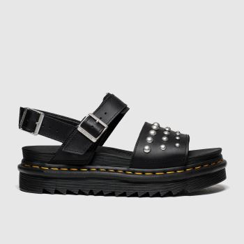 Dr Martens Black Voss Stud Womens Sandals#