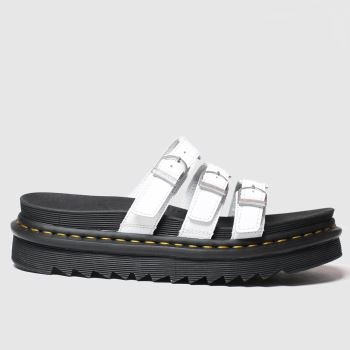 Dr Martens White Blaire Slide Womens Sandals#