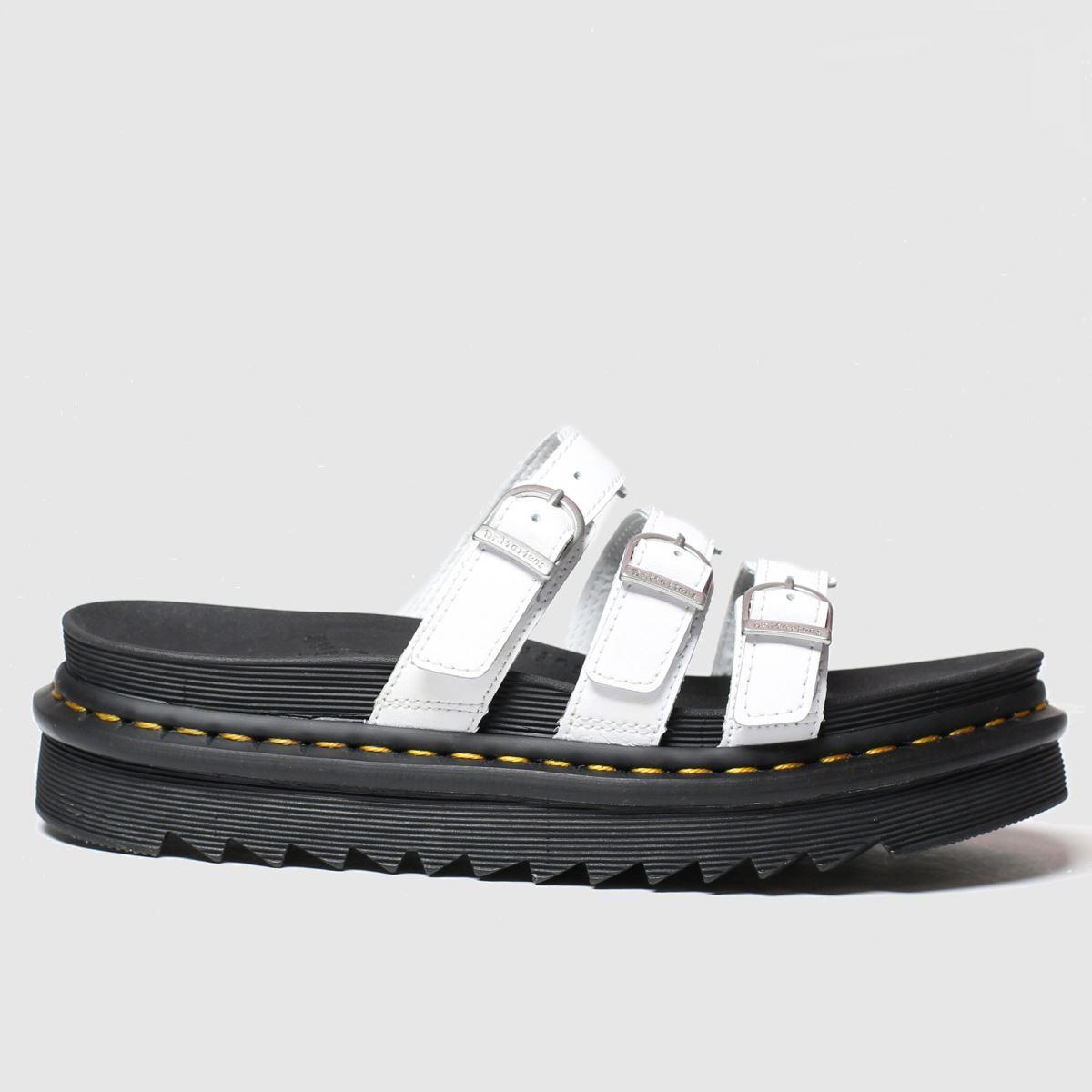Dr Martens White Dm Blaire Slide Sandal Sandals