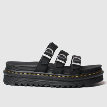 Dr Martens Black Blaire Slide Womens Sandals#