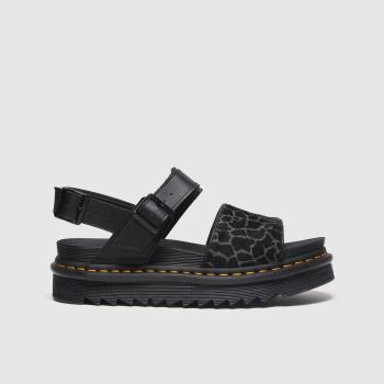 Dr Martens Black Zebrilus Voss Womens Sandals#