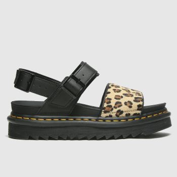 Dr Martens Black Dm Voss Hair On Sandal Womens Sandals