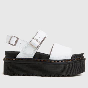 Dr Martens White Voss Quad Womens Sandals