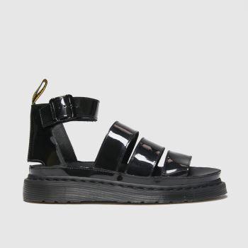 Dr Martens Black Clarissa Ii Patent Womens Sandals#