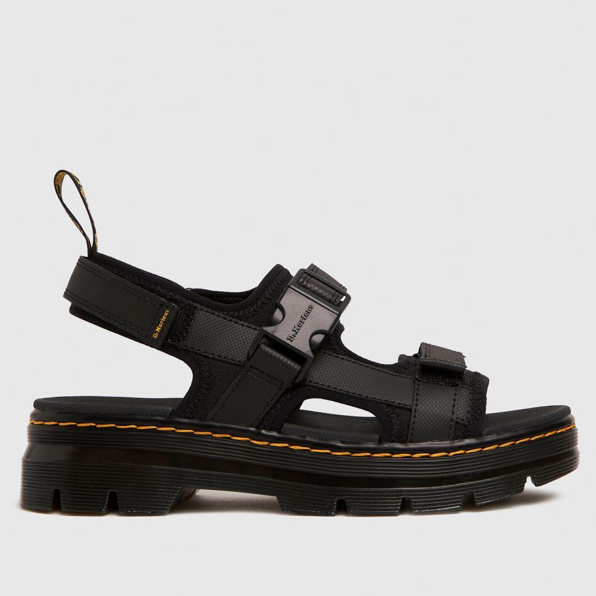 Dr Martens Black Forster Black Sandals