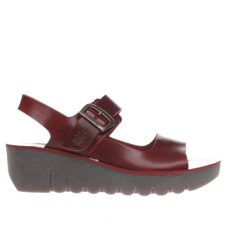Womens Red Fly London Yail Sandals Schuh