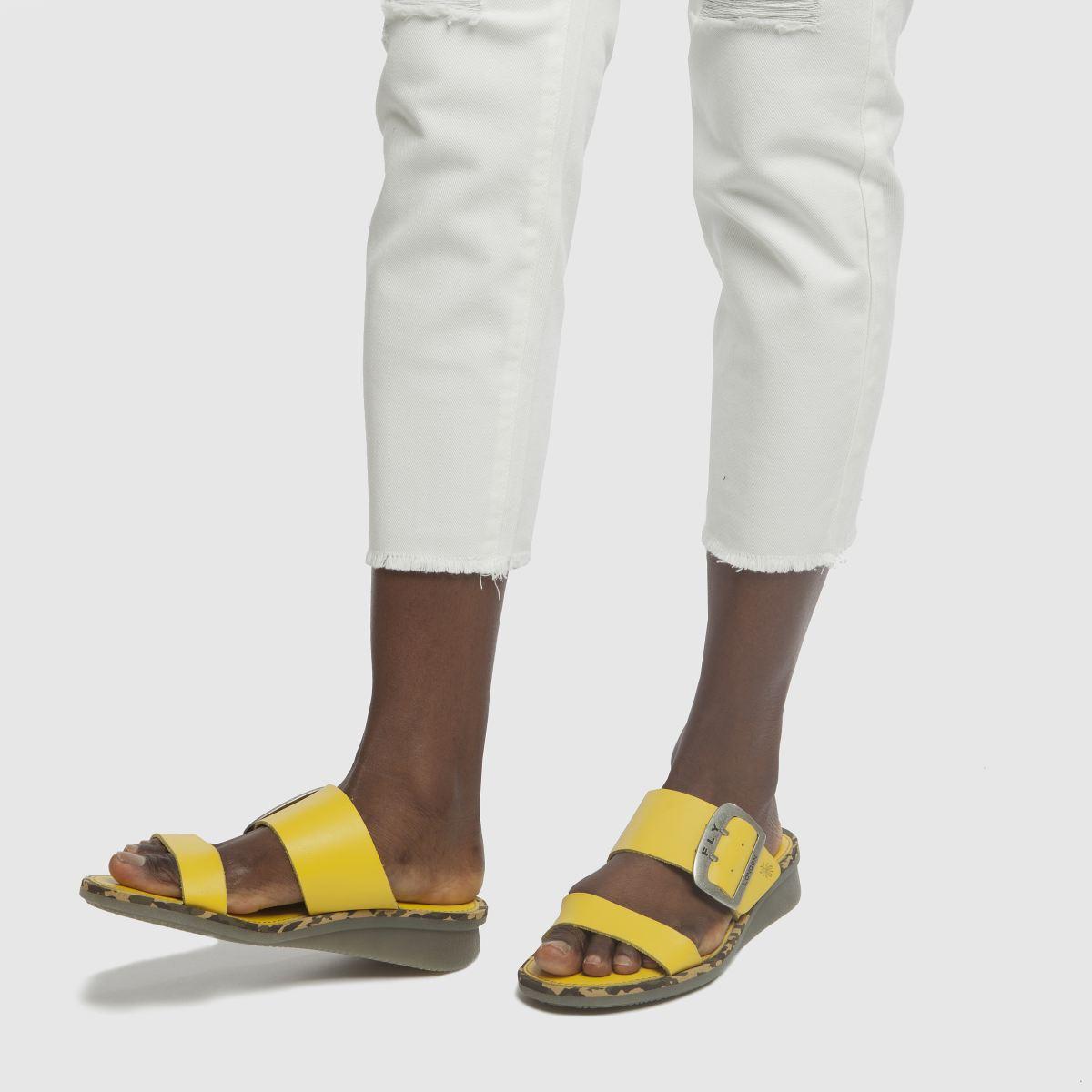 Damen Gelb fly london Cape Sandalen | schuh Gute Qualität beliebte Schuhe